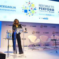 BUSINESSEUROPE Day 2016 - ÔREFORM TO PERFORMÕWelcome by Mrs Emma Marcegaglia, President of BUSINESSEUROPE